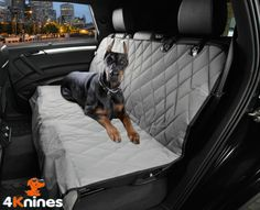 Dog Seat Cover Rear Bench Seat For Cars Trucks and SUVs (Regular Grey)