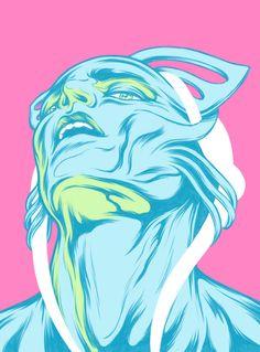 LaChapelle Alien illustration by James Jirat Patradoon