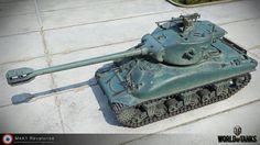 """3D model of """"M4A1 Revalorise"""" for World of Tanks."""