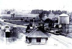 ACTON, Ontario - 2nd Grand Trunk Railway  Station birds eye view -Churcher