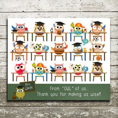 Teacher Gift Print  End of Year Gift  Personalize by thePurplePear