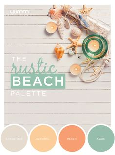 The Rustic Beach Palette! Yummi Color Inspirations. Shop Now at www.YummiCandles.com