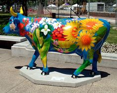 """""""Farmer's Market"""" Cow at the Cow Parade in Madison, Wisconsin - photo by Clarissa Peterson, via Flickr"""