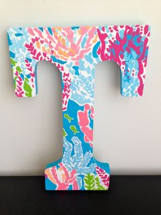 Lilly Pulitzer Let's Cha Cha Inspired Letter by PaintTheTown13