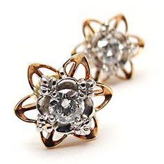 vintage star diamond earrings