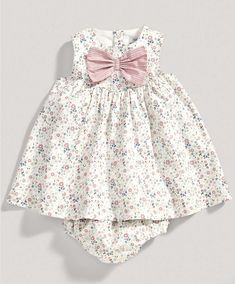 Girls Floral Bow Dress and Knickers Set - New Arrivals - Mamas Papas Baby Outfits, Baby Girl Dresses, Kids Outfits, Baby Girl Clothes Summer, Smocked Baby Dresses, Summer Baby, Baby Girl Fashion, Fashion Kids, Happy Pregnancy