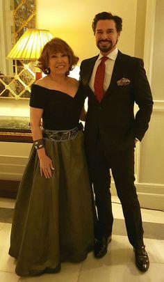 Con mi querida amiga Lina Lavin en la cena del Hotel Palace.