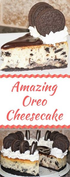 Amazing Oreo Cheesecake - Cookies 'n Cream cookies and cream cookies christmas cookies easy cookies keto cookies recipes easy Cookies And Cream Cheesecake, Cheesecake Toppings, Chocolate Cheesecake, Keto Cheesecake, Homemade Chocolate, Chocolate Recipes, Lemon And Coconut Cake, Chocolate Topping, Chocolate Chocolate