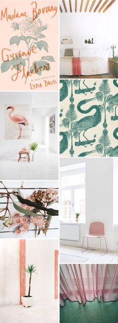 color palette: pale pink & green.