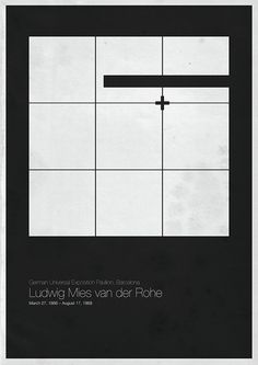 'Six Architects' posters by Andrea Gallo,Mies van der Rohe / © Andrea Gallo