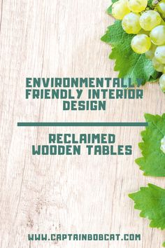 It's very possible in this day and age to opt for environmentally friendly interior design. Reclaimed wooden tables are a great example. Decoration Inspiration, Design Inspiration, Interior Ideas, Interior Design, Saving Ideas, Wooden Tables, Save Energy, Eco Friendly, Environment