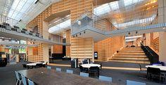 武蔵野美術大学図書館 Musashino Art University Museum and Library. Office Interior Design, Office Interiors, Architecture Design, Ramp Design, Sou Fujimoto, Wall Bookshelves, Library Design, Learning Spaces, School Design