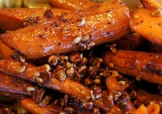 Roasted carrots with pecans & honey butter
