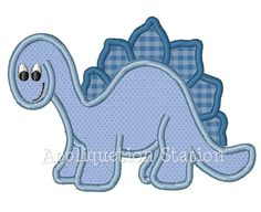 Dinosaur Cute Boys Applique Machine by AppliquetionStation on Etsy, $3.50