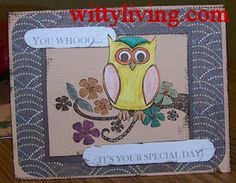 you whoo handmade card