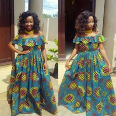 Pin by Maha Daaboul on jamsuot in 2019 African Print Shirt, African Print Dresses, African Print Fashion, African Fashion Dresses, African Prints, African Attire, African Wear, Ankara Maxi Dress, African Blouses