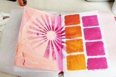 A Wee Bit Warped - Shelly Massey: Journal Page Step by Step
