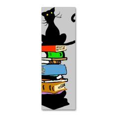 本&猫のビジネスカード。しおりにも。 #zazzle #猫
