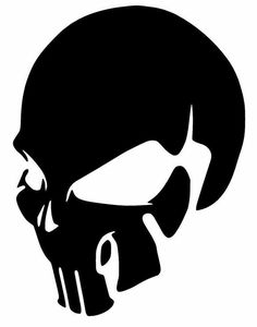 Details about SKULL Punisher Vinyl Decal Sticker Window Wall Car Bumper Laptop iPhone Oracal - Art Punisher Skull, Skull Stencil, Skull Art, Skull Logo, Totenkopf Tattoos, Skull Tattoos, Skull And Bones, Airbrush, Dark Art