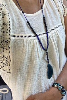 Een persoonlijke favoriet uit mijn Etsy shop https://www.etsy.com/nl/listing/576164772/boho-blue-agate-necklace