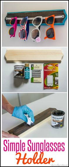 Get organized with this DIY sunglasses holder! // Beckie Farrant