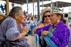 An Elder's Commendation // Miss Navajo. A Navajo elder congratulates Crystalyne Curley [Miss Navajo Nation 2011-2012] on her accomplishment for becoming the new Miss Navajo Nation the day after her coronation. Photo by Donovan Shortey