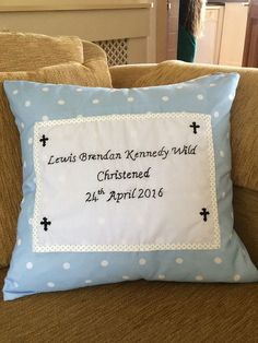 homemade customised occasion cushion by EffiesRags on Etsy