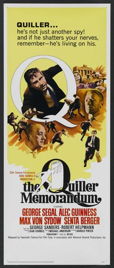 The Quiller Memorandum (1966) - Senta Berger, George Segal \ Max - memorandum