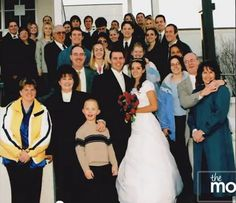 Shay and Colette's wedding picture...ah the beginning of the shaytards!