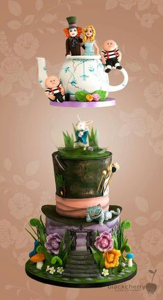 Wonderland wedding cake Fabulous!