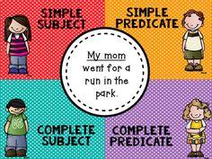 Complete Subject and Predicate 6th Grade Ela, 2nd Grade Classroom, Sixth Grade, Esl, Grammar, Sentences, Literacy, Student, Frases