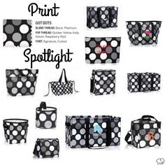 Print Spotlight for Spring/Summer 2017 Thirty-One - Got Dots #newcatalog #Carrie31Bags
