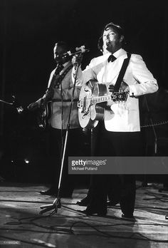 Bill Haley performs on stage at London Rock'n, Roll show, Wembley, London, 5th August 1972.