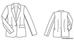 free pattern, жакет, pattern sewing, выкройка жакета, выкройки скачать, готовые…