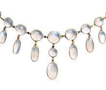 Edwardian Blue Moonstone Necklace. There' something about Moonstone that really calls to me.
