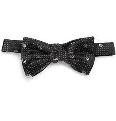 Alexander McQueen - Skull-Embroidered Woven-Silk Bow Tie