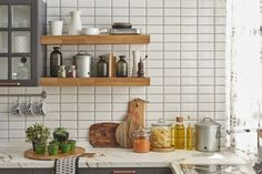 Declutter Your Kitchen: 10 Things to Toss Today! (Part - Clean My Space Smart Kitchen, Easy Kitchen Updates, Updated Kitchen, Kitchen Storage, Kitchen Decor, Metro White, Natural Shelves, Küchen Design, Interior Design