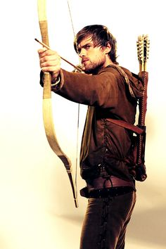 Robin Hood - Robin Hood. Robin is the main character of said TV series. He fights for the poor and needy of Nottingham, bravely facing off the Sheriff with his band of Merry Men. He falls in love with Marian, yet knows they might never be together. Robin is brave, strong, caring, and determined.