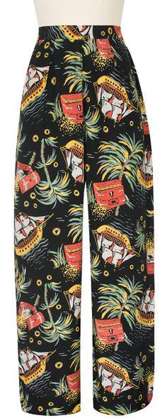Trashy Diva Lounge Pants | Vintage Inspired Pants | Pirate Treasure