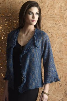 Ruffled Drape-Front Jacket in RITRATTO page 13