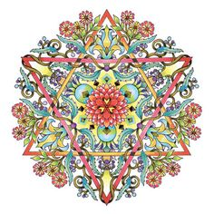 Mandalas Adult Coloring Pages  Star of David by emerlyearts $20/set