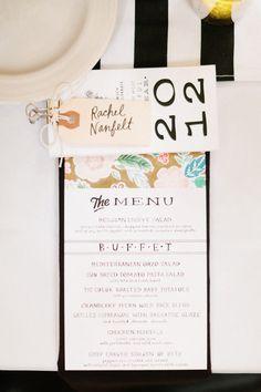 Menus & Calendar (favor) DIY by bride.    Photography by valophotography.com