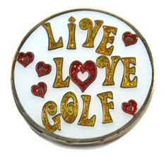 Find the best Holiday gifts for golf accessories : Live Love Golf Navika Glitzy Ball Marker w/Hat Clip