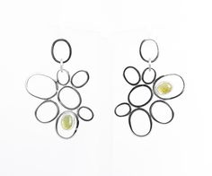 """Expression by Alexandra Ungurelu """"Golden Orchid"""" Earrings - Silver Wings Collection Made of: 925 sterling silver and semiprecious stone: golden beryl. Silver Earrings, Stud Earrings, Silver Wings, Jewelry Collection, Orchids, Place Card Holders, Contemporary, Sterling Silver, Stone"""