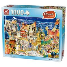 1000 #piece comic jigsaw puzzle las #vegas #casinos nevada america 05201,  View more on the LINK: 	http://www.zeppy.io/product/gb/2/400626876069/