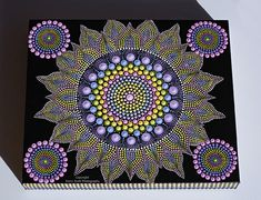 Original hand painted Dotart #58 Painted on a Canvas (ready to hang) with Acrylic Paints measuring 25 cm height x 30 cm wide Finished with two coats of sealer Suitable for indoor display, easy clean with a dry dusting cloth FREE Shipping within Australia I am always happy to