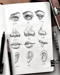 art drawings girl face portraits, art inspiration drawing ideas, a level art sketchbook inspiration artists, art drawing Cool Art Drawings, Pencil Art Drawings, Art Drawings Sketches, Realistic Drawings, Drawings Of Girls Faces, Illustration Art Drawing, Photo Illustration, Drawing Art, Nose Drawing