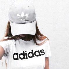 Imagem de adidas, girl, and white