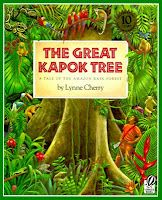 Book, The Great Kapok Tree by Lynne Cherry -Teaches various point of views & environmental education (Earth Day) Rainforest Theme, Amazon Rainforest, Brazilian Rainforest, Rainforest Animals, Rainforest Activities, Rainforest Project, Jungle Animals, Wild Animals, Rainforest Classroom