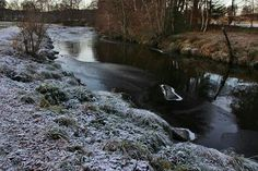 Minus 9 this morning 21st November 2016 - River Deveron started to freeze over